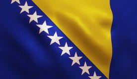 波斯尼亚旗子 免版税库存照片
