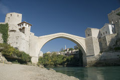 波斯尼亚桥梁莫斯塔尔 库存照片