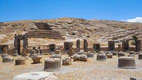 波斯波利斯废墟在伊朗 库存照片