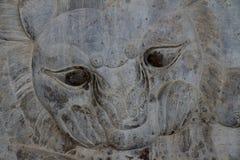 波斯波利斯:公牛和狮子战斗 库存图片
