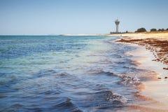 波斯湾 Ras Tanura,沙特阿拉伯 库存图片
