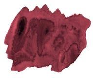 波斯红色的时髦颜色水彩背景与锋利的边界和离婚的 r 皇族释放例证