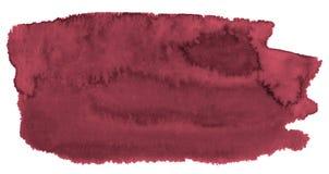 波斯红色的时髦颜色水彩背景与锋利的边界和离婚的 r 库存例证