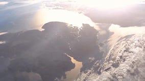 从波斯菊动画的植物地球 行星从空间动画的地球视图 地球虚构的看法  从空间的海洋 皇族释放例证