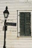 波旁酒路灯柱街道 免版税库存图片