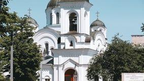 波洛茨克,白俄罗斯 波洛茨克的圣徒Euphrosyne修道院复合体有圣洁十字架的兴奋东正教的  影视素材