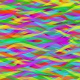 波浪五颜六色的线路 无缝抽象的模式 免版税库存照片
