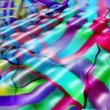 波浪五颜六色的线路 免版税库存照片