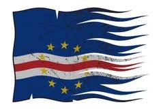 波浪佛得角的旗子和Grunged 皇族释放例证