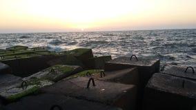 波浪停止者在亚历山德拉 图库摄影