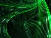 波浪分数维背景-提取数位引起的图象 向量例证
