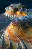 波浪北部土狼小山有这头上部第二座岩层北部土狼小山在Paria峡谷银朱的峭壁原野 免版税图库摄影
