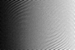 波浪半音背景 可笑的光点图形 流行艺术样式 与圈子,小点,回合的背景设计元素 库存例证