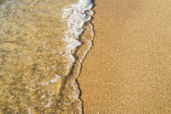 波浪和海滩背景 图库摄影