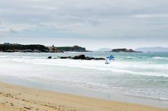 波浪和风 免版税库存照片