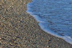 波浪和贝壳 库存照片