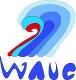 波浪商标传染媒介 库存图片