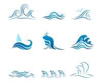波浪图表装饰品 免版税库存照片