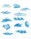 波浪图表装饰品 免版税图库摄影