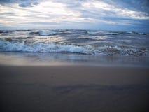 波浪在波罗的海 库存照片