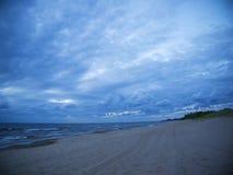 波浪在波罗的海 免版税库存照片