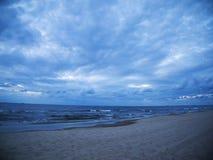波浪在波罗的海 图库摄影