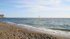 波浪在海边 影视素材