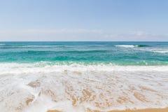 波浪在海 库存图片