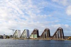 波浪在瓦埃勒,丹麦 免版税库存照片