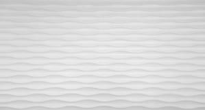 波浪在白色的纹理墙壁 库存照片
