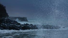 波浪在Donostia 库存照片