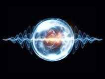 波浪微粒魔术  向量例证