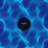 波浪抽象例证 库存照片