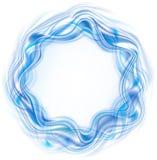 波浪抽象框架的树荫 图库摄影