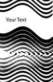 波浪抽象的设计 免版税库存照片