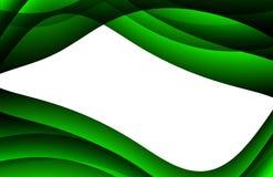 波浪抽象背景的绿色 库存照片