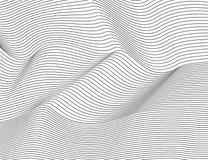 波浪抽象黑线 传染媒介纹理条纹样式,被隔绝的白色背景 能躺在,容易改变肤色 向量例证