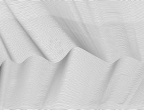 波浪抽象黑线 传染媒介纹理条纹样式,被隔绝的白色背景 能躺在,容易改变肤色 库存例证