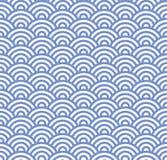 波浪无缝的蓝色样式 向量 向量例证