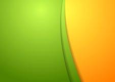 波浪明亮的抽象设计模板 免版税库存图片