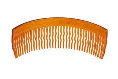 波浪梳子头发塑料的牙 图库摄影
