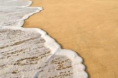 波浪沙子 库存图片