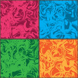 波浪疯狂的彩色组框架无缝的样式 皇族释放例证