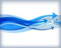 波浪的箭头 免版税库存图片