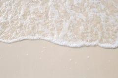 波浪的运动在沙子的为ba是光滑和美好的 免版税库存图片