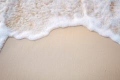 波浪的运动在沙子的为ba是光滑和美好的 图库摄影
