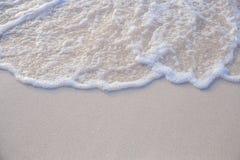 波浪的运动在沙子的为ba是光滑和美好的 免版税图库摄影