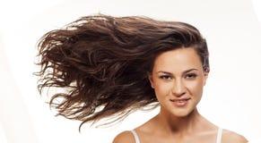 波浪的头发 免版税库存图片