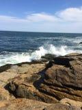 波浪碰撞 库存图片