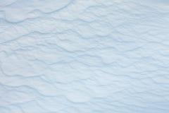 波浪纹理多雪的表面 Winyer背景 库存照片